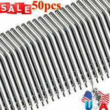 50pcs Dental Air Water Spray Triple Syringe 3 Way Metal Nozzles Tubes Tips Mx
