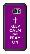 Purple Keep Calm and Pray On For Samsung Galaxy S7 G930 Case Cover by Atomic Mar