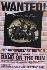"40x60"" HUGE SUBWAY POSTER~Paul McCartney & Wings 1999 Band on the Run Album Rare"