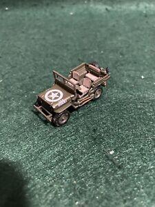 1/72 20mm WW2 US Army Willys Jeep Diecast Metal Wargaming-FREE POSTAGE