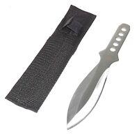 KNIFE COLTELLO 22 CM per bersaglio  CON CUSTODIA acciaio