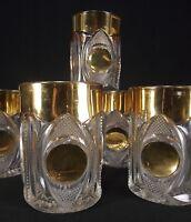 Co-operative Flint Glass Co. tumbler GOLD CIRCLE antique ca. 1890 Co-Op's EAPG
