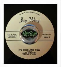 JACK WINSTON 45 RE-IT'S ROCK AND ROLL -'58 JAY WING KILLER GUITAR ROCKERS ♫HEAR♫