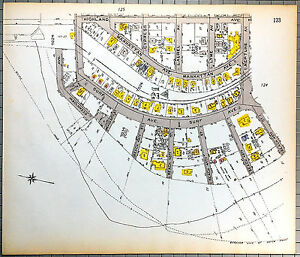Original 1922 Map of Sea Gate Brooklyn - Surf & Atlantic at Beach 40th past 51st