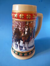 Beer Stein Tankard Drinking Vessel ~ 1993 BUDWEISER Hometown Holiday Collection