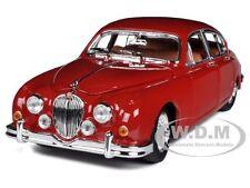 1959 JAGUAR MARK II RED 1/18 DIECAST CAR MODEL BY BBURAGO 12009