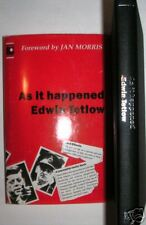 As It Happened Edwin Tetlow in Dj Author Signed 1st Ed.
