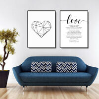 AU_ Nordic Canvas Wall Painting Love Letters Picture Art Poster Home Decor Sanwo
