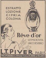 V0595 Reve d'Or - L.T. Piver Paris - Pubblicità d'epoca - 1931 old advertising