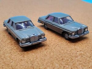 Vintage Wiking Models 1:87 Scale Mercedes 280 S TWO PACK MINT