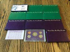 1990 - 1999 US Mint Proof Sets Lot of 10