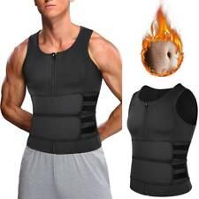 Men's Waist Trainer Neoprene Body Shaper Double Belt Slimming Sweat Sauna Vests
