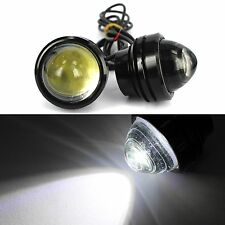 2Pcs White 9W CREE High Power Fish / Bull Eye Projector Fog Light DRL LED Lamps