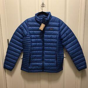 $229 NWT Patagonia Women's Down Sweater Jacket, Large, Alpine Blue