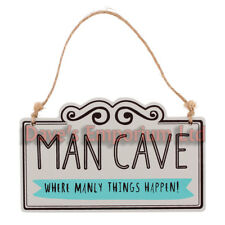 Man Cave Sign - Wooden Hanging - Funny Gift Dad Humour Manly