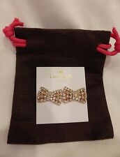 Kate Spade Sparkling Bow Earrings Rose Gold 14K Gold Filled Post Dust Bag NWT