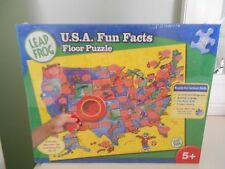 Leap Frog U.S.A. Fun Facts Floor Puzzle 5+ NEW/SEALED