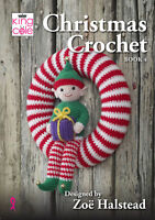 King Cole Christmas Crochet Book 4 Pattern Festive Characters Bauble Decorations