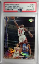 Rare! 1995 UPPER DECK #352 Michael Jordan, ELECTRIC COURT GOLD, POP 6 PSA 10!