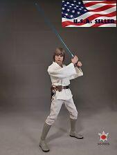 1/6 STAR WARS Luke Skywalker Head Sculpt White Costume Suit Set  IN STOCK USA