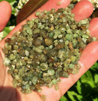 100g New Find Natural Green Demantoid Garnet Crystal Grain Specimens sl003