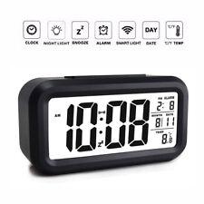 LCD Digitalwecker Uhr Decker Alarm Tischuhr Mit Datum Temperatur Alarm Clock DE