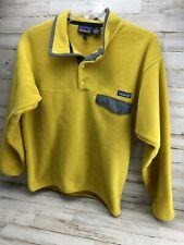 Vintage Patagonia Synchilla Snap T Fleece Pullover Men's Medium M Scarce-Yellow