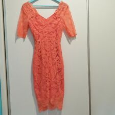 BNWOT Alannah Hill Her Divine Boudoir Dress French Lace Coral 6 8 Made Australia
