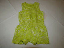 Calvin Klein Jeans girls green white 3T toddler romper 3811042-99 NWT kids *^