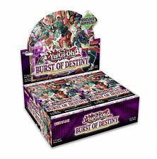 Yugioh Burst of Destiny fábrica sellada 1st edición Booster Box Preventa 11/5
