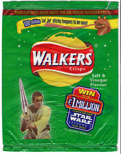 Star wars Obi Wan Kenobi Walkers Salt & Vinegar Empty Crisp packet 25 sept 1999