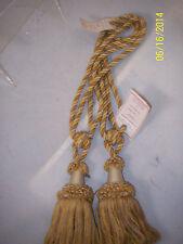 "Decorative Tassell Cotton Tie Back Bronze Set of 2  ""Little Chelsea""  30"""