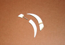 Handmade Tribal Ethnic Natural Bone Hoop Fake Plug Taper Earrings Piercing Tooth