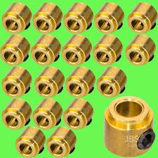 ► 20 Stück 3mm Stellring Stellringe Messing incl Madenschraube Sechskant Messing