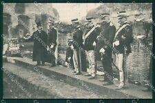 Roma Città Giuturna Re di Grecia Militari Greece Royalty cartolina QT2040