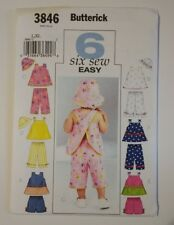 Butterick 3846 Size L XL Infants Top Shorts Pants Hat