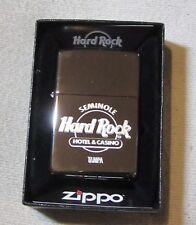 Zippo Lighter Hard Rock Cafe & Casino Tampa Silver Chrome Finish Boxed