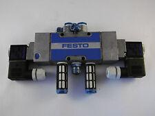 Festo Magnetventil MFH-5/3B-1/4B mit Anbauteilen