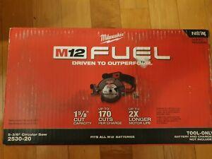 "Milwaukee 2530-20 M12 FUEL™ 5-3/8"" Circular Saw (Tool Only) - NIB"