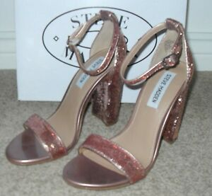 STEVE MADDENLrose gold synthetic sequined occasion shoes Size 5