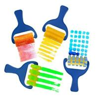 4pcs Sponge Paint Roller Brush DIY Painting Brushes Kids Art Craft Tool