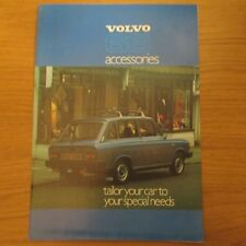 VOLVO 66 Accessories Accessory UK Market Foldout Leaflet Brochure 1977
