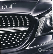 2014 Mercedes Benz CLA250 CLA45 AMG 42-page Original Car Sales Brochure Catalog