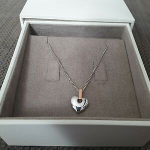 Clogau Gold Sterling Silver And Rose Gold Cariad Pendant Necklace RRP £129