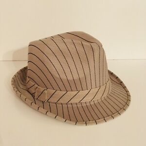 Fedora Hats For Men, tan And Black Stripes Size 8