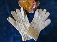 gants   anciens fillette ou femme  menue  coton  anciens T5/5  /   6 BON éTAt