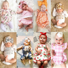 AU Stock Toddler Infant Baby Girls Lace Romper Bodysuit Jumpsuit Outfit Clothes