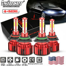 9005+9006 260W 26000LM Combo LED Headlight High+Low Beam 6000K Total 4 Bulbs
