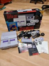 Super Nintendo SNES System Game Console Mario All Stars Version Open Box Tested