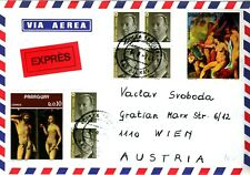 SPAIN 1994 express cover to VIENNA, Austria with surplus Paraguay stamps